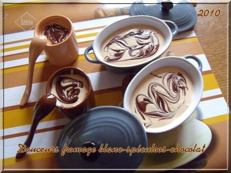 Douceurs au fromage blanc/pâte de spéculoos/chocolat 101123074724683837179071