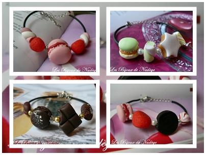 bracelet gourmand macaron bonbon