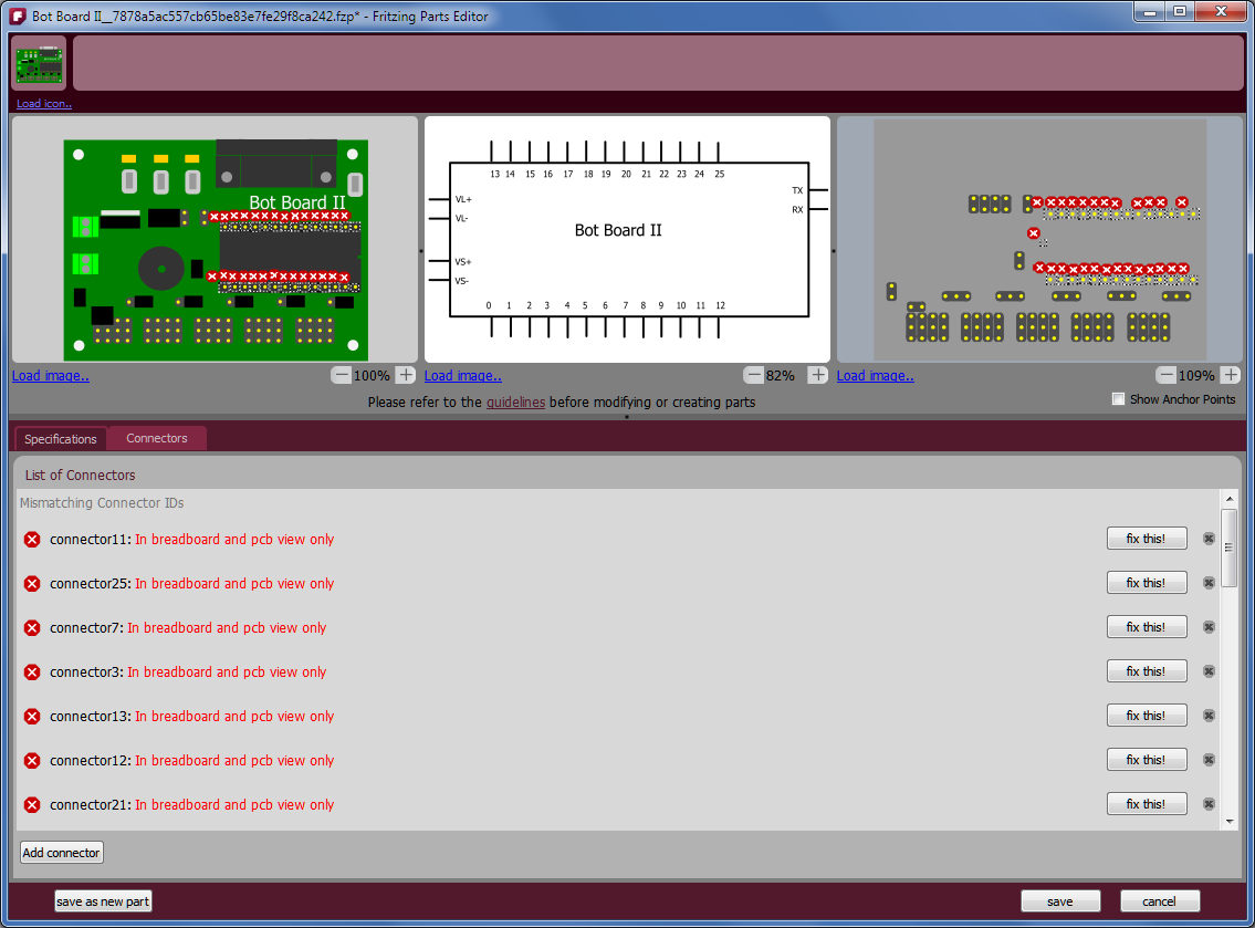 After changing the schematic view