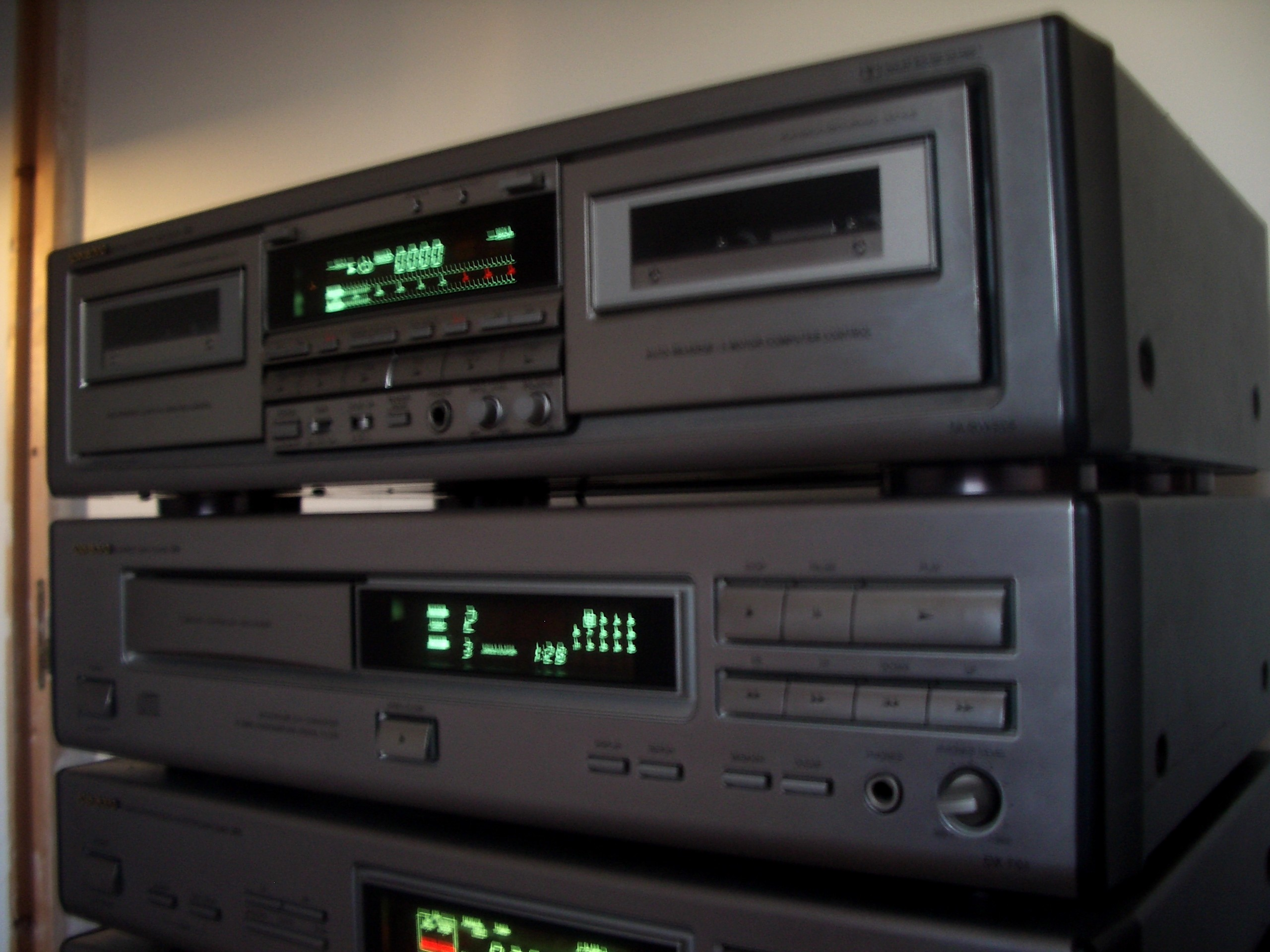 amplifier onkyo integra r1 cd tape tuner hifi audiophile vintage chains ebay. Black Bedroom Furniture Sets. Home Design Ideas