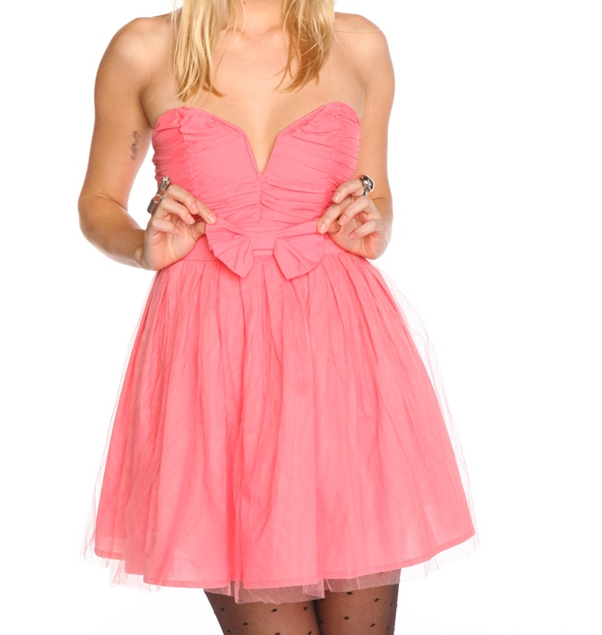 Nasty Gal Bow Dress Pink