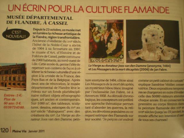 Musée de Flandre in de media 110204085530970737586925