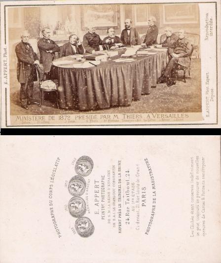 CDV - cdv Appert 1872 Thiers
