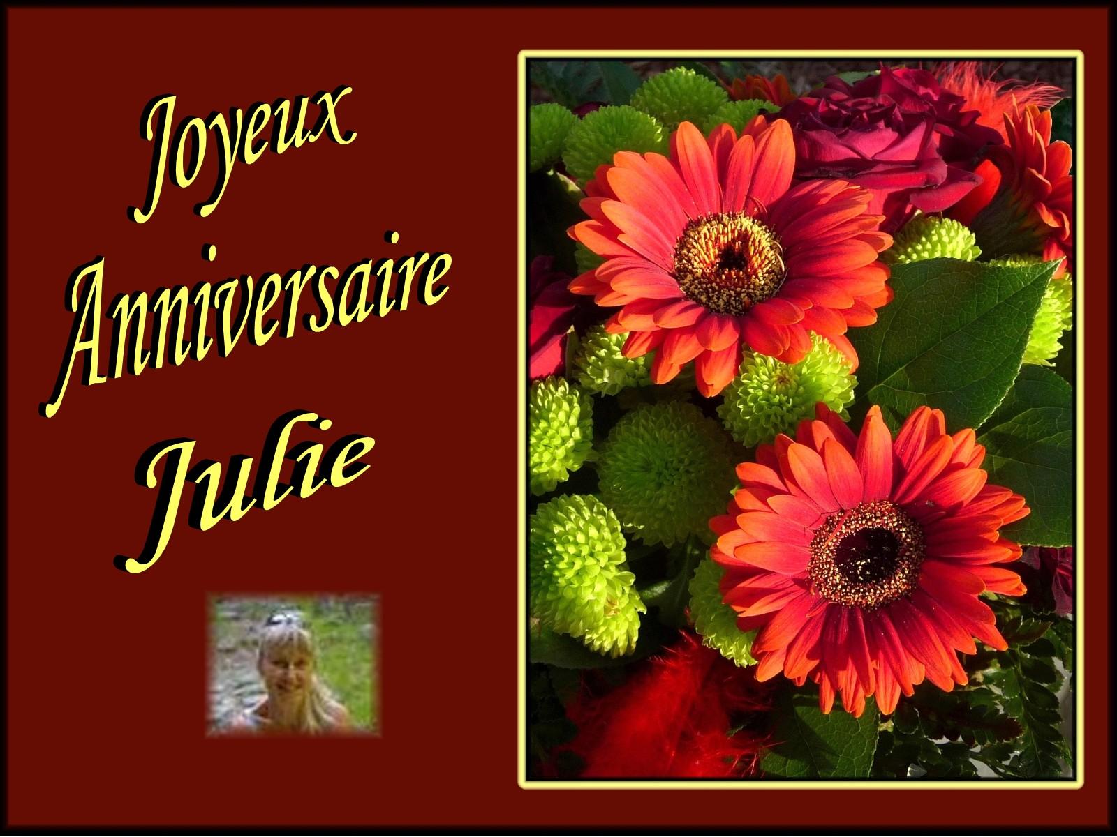 Carte Bonne Fete Julie Gratuite.Carte Joyeux Anniversaire Julie Zeeep Web
