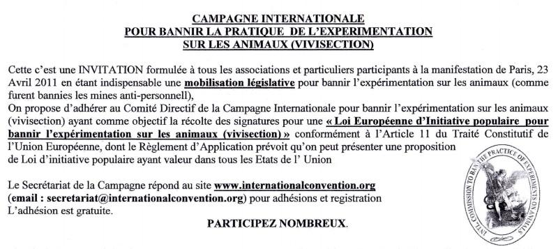 """""""Marche européenne contre la vivisection"""" 23/04/2011 Paris 1104230727201239648042624"""