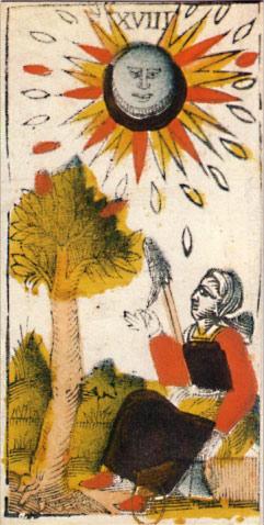 """La carte du tarot """"la Lune"""" 110426034119777138058022"""