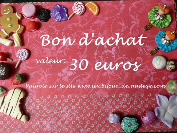 bon d'achat bijoux artisanaux internet