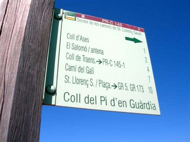 Panneau Coll del Pi del Giuardia