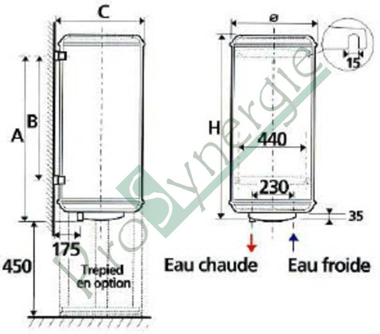 chauffe eau elec atlantic st atite magn sium 100l mono. Black Bedroom Furniture Sets. Home Design Ideas