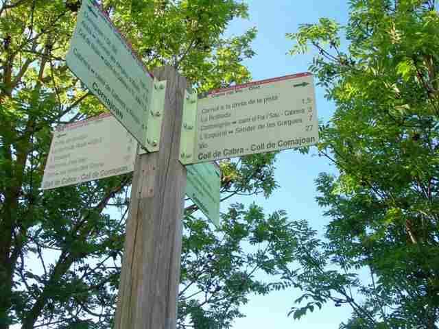 coll de Comajoan (pancarte)
