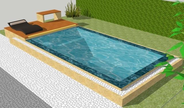 Piscine miroir sur lev e niveau variable 6 x 3 m for Aqualsace piscine