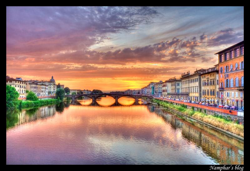 Coucher de soleil à Florence : premier essai de HDR dans Architecture 1107080928241315658442788