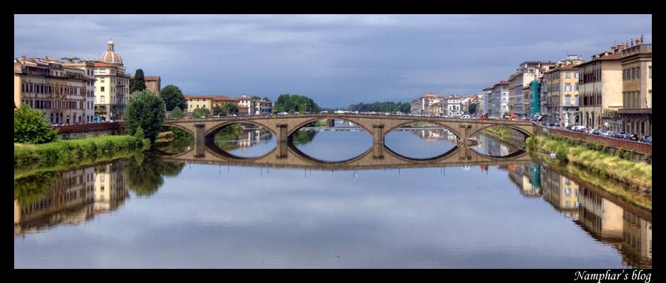 Ponte alla Carraia à Florence, autre essai en HDR dans Architecture 1107131030311315658466584