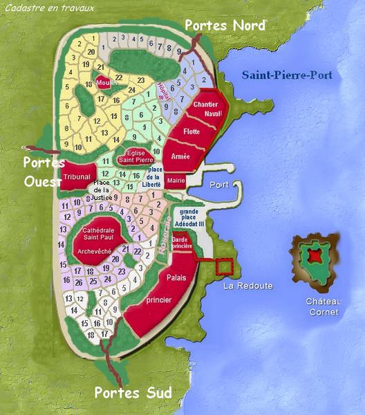 Plan et cadastre de Saint Pierre 110806032515129338553067