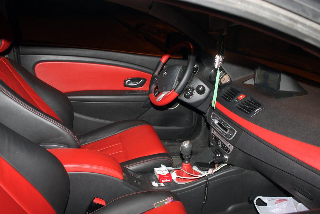 Megane cabriolet interieur cuir rouge for Interieur rouge