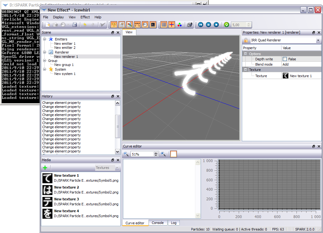 Icewhirl : Particle editor for SPARK 110911100413170928729383