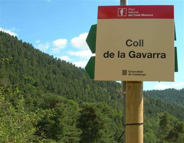 Coll de la Gavarra- ES-B-1590 (Pancarte)