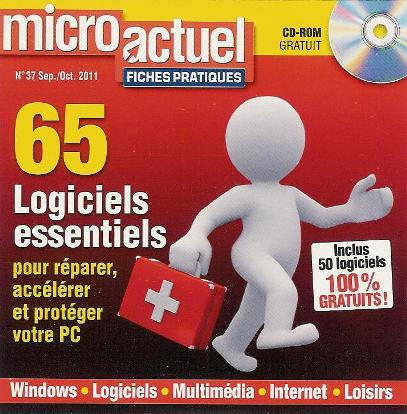 CD-ROM Micro Actuel Fiches Pratiques N°37 Septembre / Octobre 2011 Megaupload