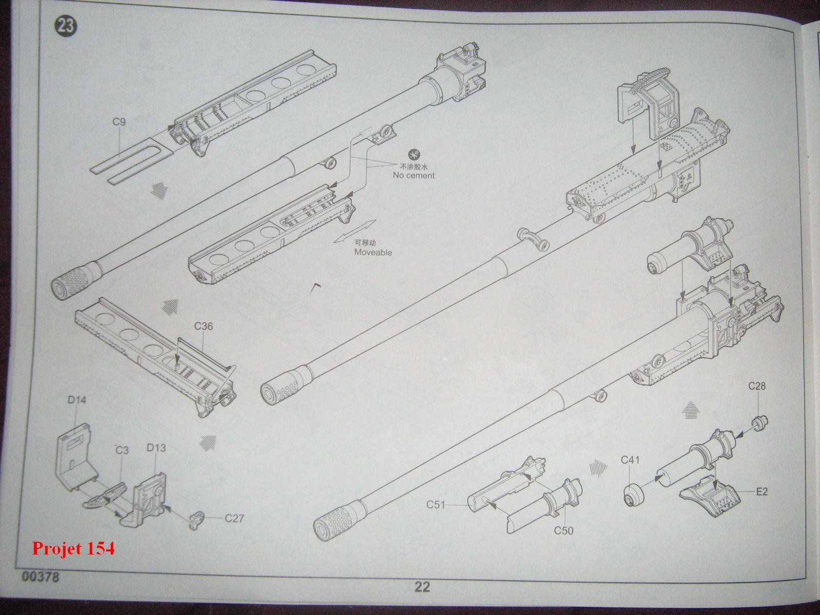 [Trumpeter]Geschützwagen Tiger für 17cm Kanone 72 (Sf)[1:35] 1109201025111175498772583