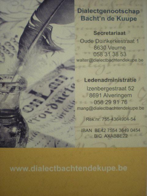 Dialectgenootschap Bacht'n de Kuupe 111014095417970738901351