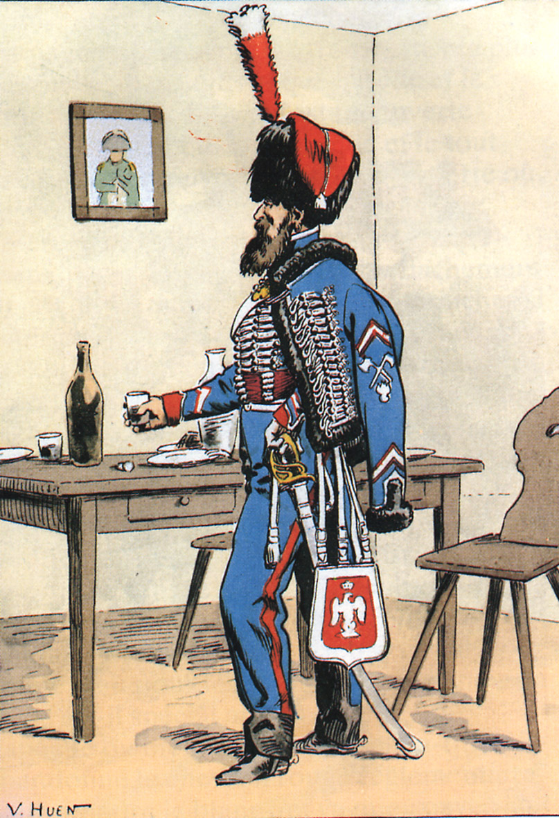 Maréchal des logis du 10 ème Hussard, tenue de cantonnement 111229082305359349233048