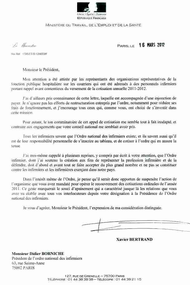 Des bonnes nouvelles....lettre de X. Bertrand à D. Borniche (pour tous) 1203190646091139709603516