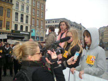 Zaterdag 31 maart 2012 : gemeenschappelijke manifestatie in Rijsel voor de erkenning van het Vlaams en het Picardisch 1203311049561419619656074