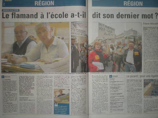 Zaterdag 31 maart 2012 : gemeenschappelijke manifestatie in Rijsel voor de erkenning van het Vlaams en het Picardisch 1204020139541419619663022
