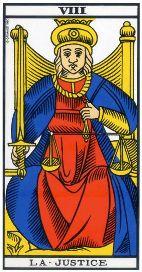 """La carte du tarot """"La Justice"""" 120402034325385009663453"""