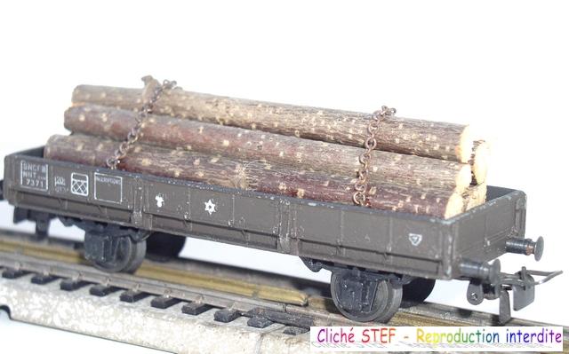 Wagons à 2 essieux zamak à essieux chargés 120403083308878979666779