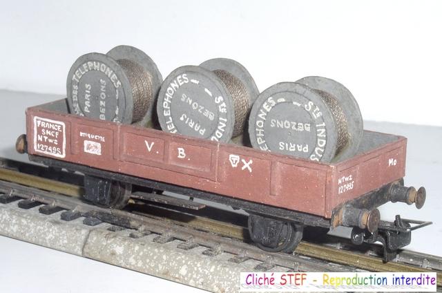 Wagons plats 2 ess maquette et semi maquette chargés par ordre alphabetique 120403092427878979666903