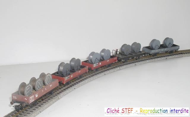 Wagons plats 2 ess maquette et semi maquette chargés par ordre alphabetique 120403095352878979666954