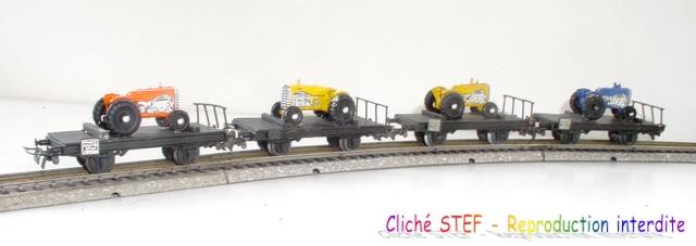 Wagons plats 2 ess maquette et semi maquette chargés par ordre alphabetique 120403102627878979667133