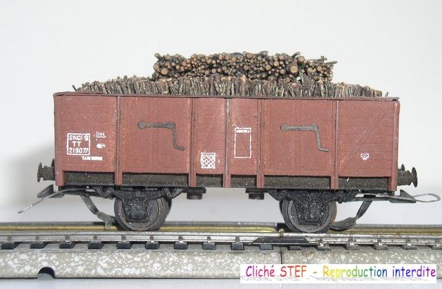 Wagons tombereau 2 essieux maquette chargés 120404124939878979671523