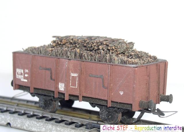 Wagons tombereau 2 essieux maquette chargés 120404124939878979671524