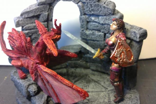 Dragonnière et son dragon. 1204050406101059489677093