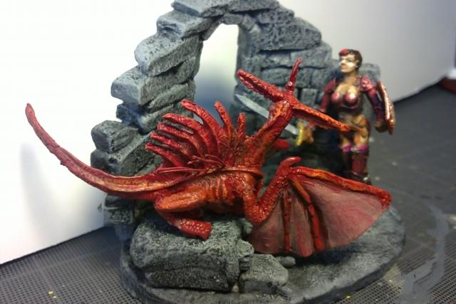 Dragonnière et son dragon. 1204050406331059489677095