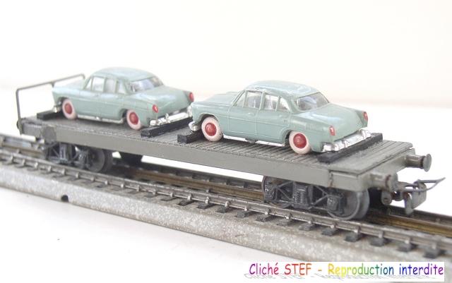 Wagons plats à bogies maquette et semi maquette chargés 120410045633878979700566