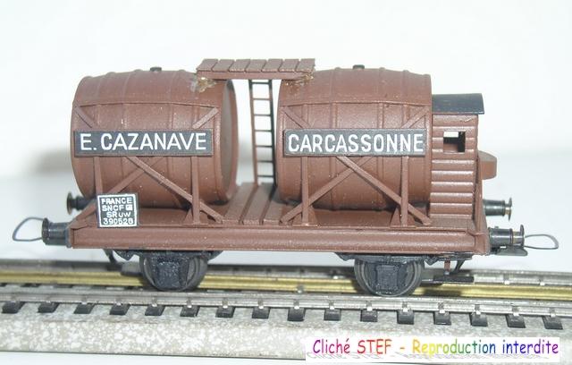 Wagons à 2 ess maquette citernes, foudres 120410071422878979701174