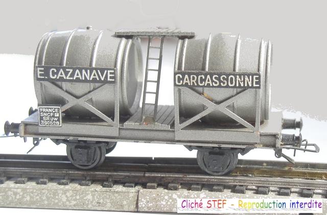 Wagons à 2 ess maquette citernes, foudres 120410071423878979701180