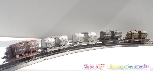 Wagons à 2 ess maquette citernes, foudres 120410071609878979701208