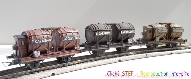 Wagons à 2 ess maquette citernes, foudres 120410071611878979701211