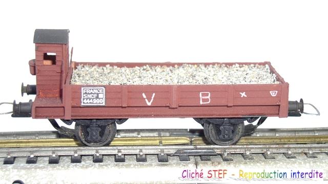 VB essieux maquette brun VB guérite ballast P1011066
