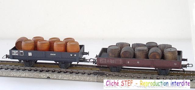 Wagons plats 2 ess maquette et semi maquette chargés par ordre alphabetique 120414075358878979718741