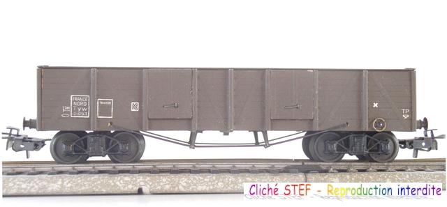 Wagons tombereaux à bogies maquette  120416013023878979725870