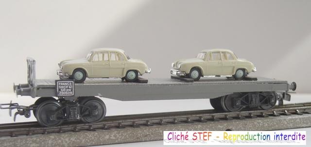 Wagons plats à bogies maquette et semi maquette chargés 120420100406878979742466