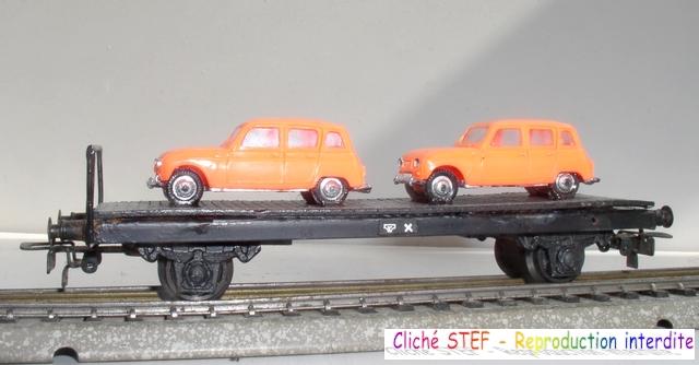 Wagons plats 2 ess maquette et semi maquette chargés par ordre alphabetique 120420100407878979742468