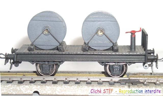 Wagons plats 2 ess maquette et semi maquette chargés par ordre alphabetique 120422115318878979754803
