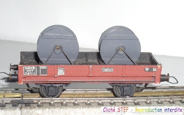 Wagons plats 2 ess maquette et semi maquette chargés par ordre alphabetique 120422115318878979754805