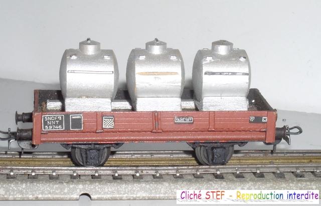 Wagons plats 2 ess maquette et semi maquette chargés par ordre alphabetique 120422115318878979754806